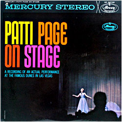 Cover image of Patti Page On Stage
