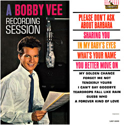 Cover image of A Bobby Vee Recording Session